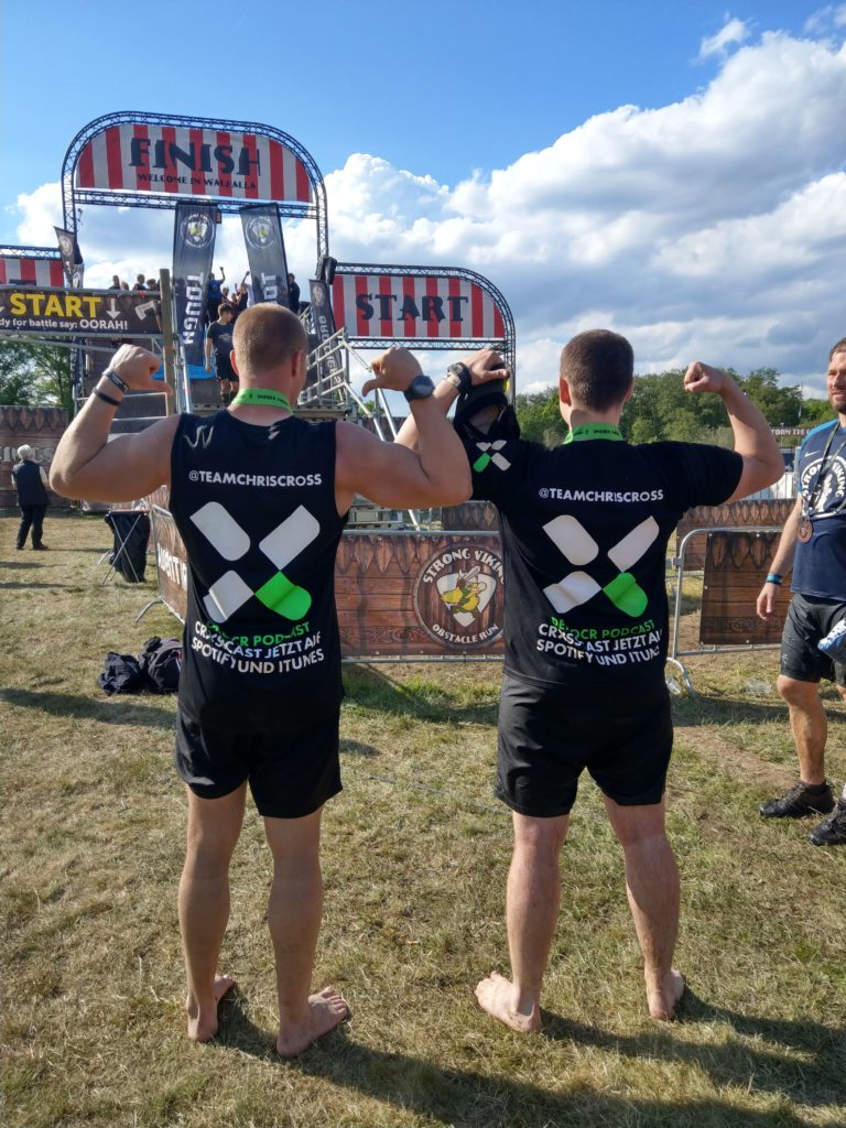 Neue Tshirts, OCR CrossCast, Finish Strong Viking