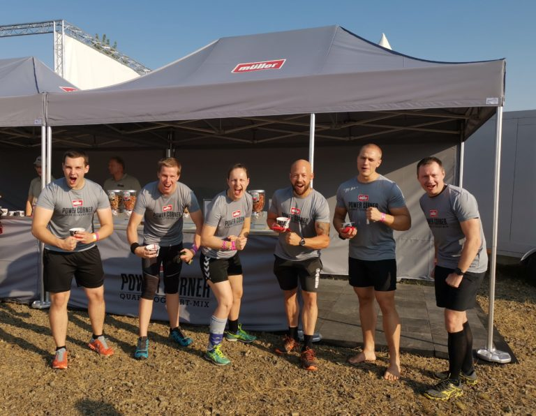 Mit Power Corner der Molkerei Müller zum Tough Mudder Berlin-Brandenburg 2019