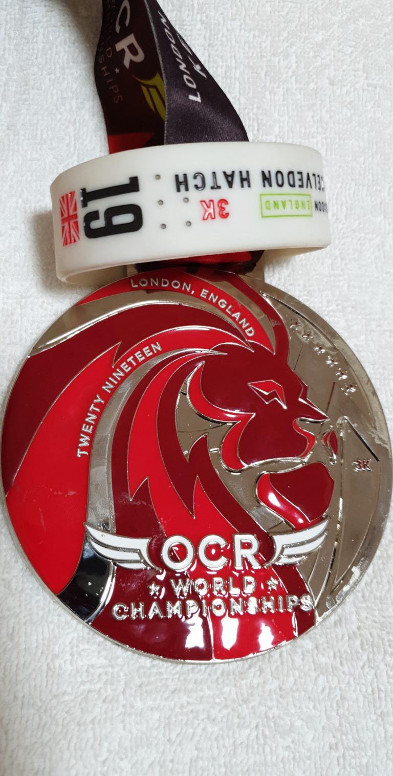 Medaille OCRWC London 2019 Shortcourse 3k