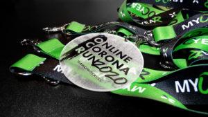 Online Corona Run 2020 Medaille