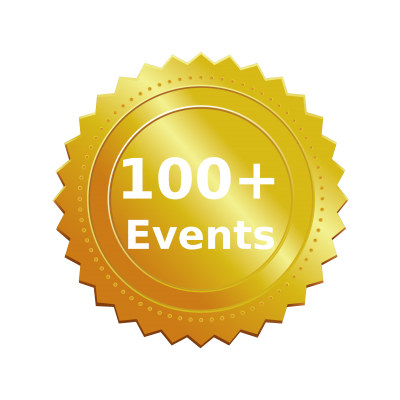 100+ Events