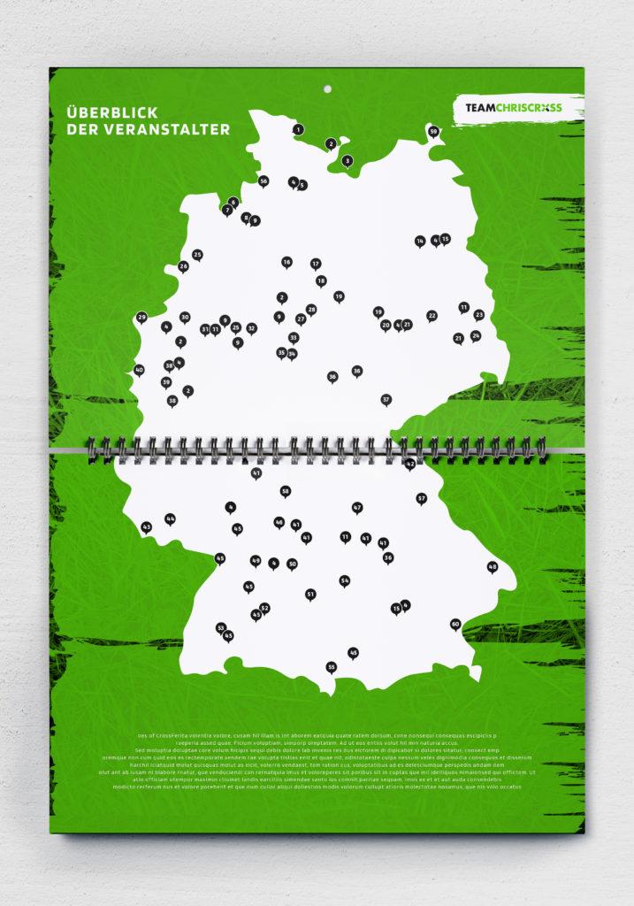 OCR Kalender 2020 myOCyeaR Deutschlandkarte Hindernisläufe